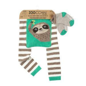 Zoochini Silas The Sloth Baby Legging & Sock Set