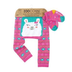 Zoochini Laney The Llama Baby Legging & Sock Set
