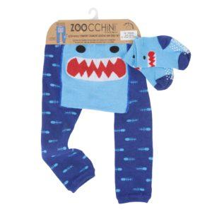 Zoochini Sherman the Shark Baby Legging & Socks Set