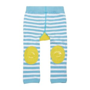 Zoochini Puddles the Duck Baby Legging & Socks Set grippy padded knees