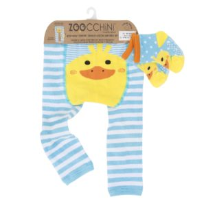 Zoochini Puddles the Duck Baby Legging & Socks Set