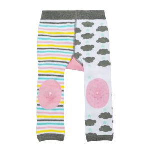 Zoochini Allie the Alicorn Baby Legging & Socks Set grippy knee padding