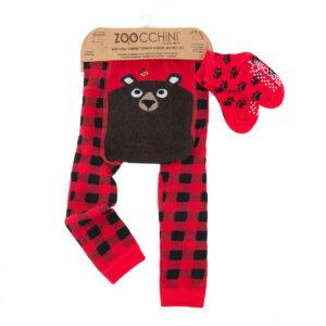 Zoochini Bosley the Bear Baby Legging & Socks Set