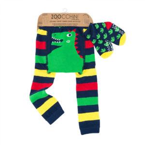Zoochini Devin the Dinosaur Baby Legging & Socks Set
