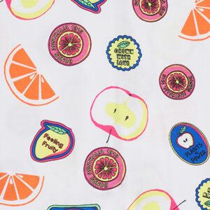 Bonds Fruit Sticker Fun White Wondersuit