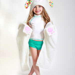 ZOOCCHINI Kids Plush Terry Hooded Bath Towel - Bella the Bunny