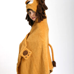 ZOOCCHINI Kids Plush Terry Hooded Bath Towel - Leo the Lion