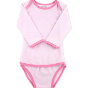 OETEO - Popper Free Long Sleeve Vest - Tender Pink