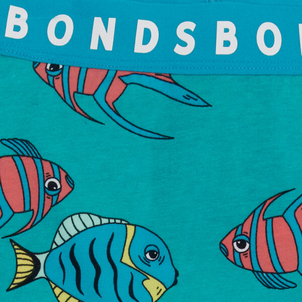 Bonds Floating Fish Teal Stretchies Leggings