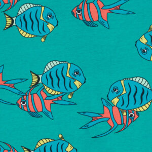 Bonds Floating Fish Teal Wondersuit
