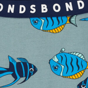 Bonds Floating Fish Grey Stretchies Leggings