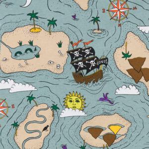 Bonds Pirate Treasure Map Grey Wondersuit