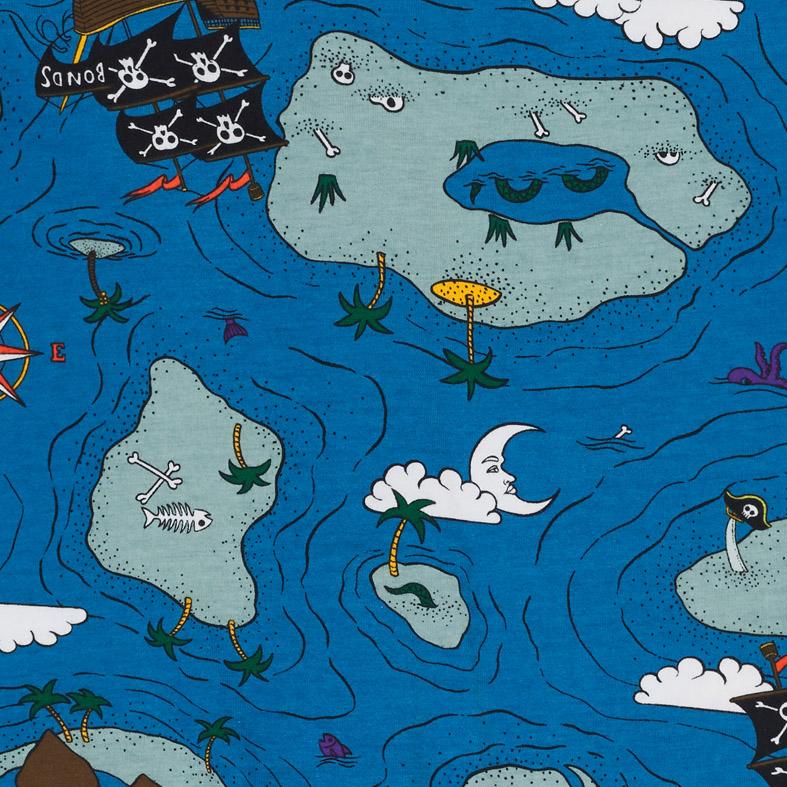 Bonds Pirate Treasure Map Wondersuit Blue