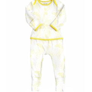 Summer yellow oeteo sleepsuit