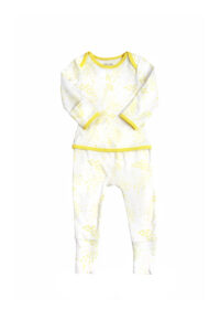 Summer yellow oeteo sleepsuit at Globe Totters