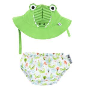 ZOOCCHINI Baby Swim Nappy & Sun Hat Set - Alligator