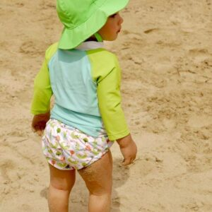 ZOOCCHINI Baby Swim Nappy & Sun Hat Set - Alligator beach