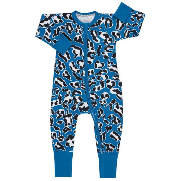 Bonds Major Leopard Blue Wondersuit
