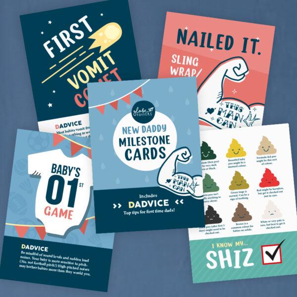 New Dad Milestone Cards x 12