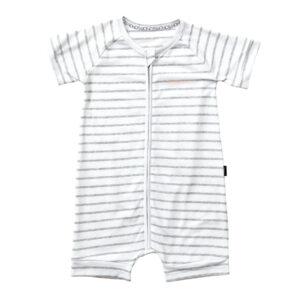 Bonds New Grey Marle / White Shortie Wondersuit