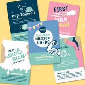 New Mum Milestone Cards set 12