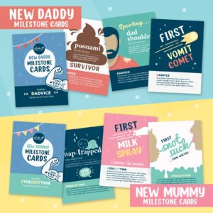 New Daddy Milestone Cards